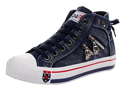 imayson-womens-skull-fashionable-zipper-shoes-lace-up-flats-canvas-sneakers-uk-35-color-navy