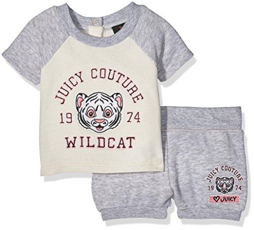 Juicy Couture Baby-Mädchen FT Graphic Colorblock Pullover Set Grey (Vanilla Heather Cozy), 86 (Cozy Heather)