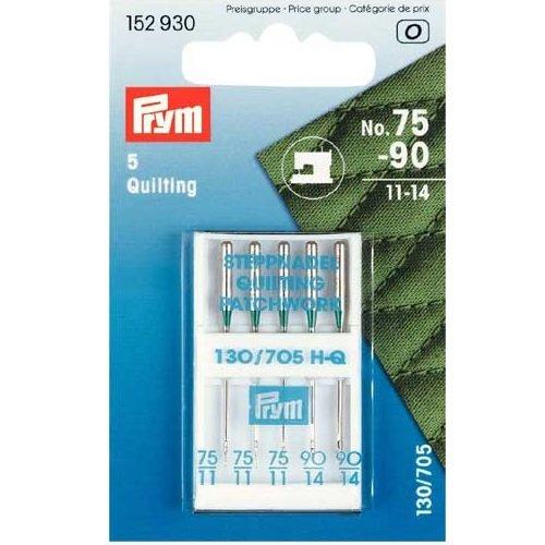 PRYM Quilten Maschine Nadeln, silber, Größe 75–90 (Quilt-nadeln)