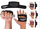Grip Pad Gym Gel padded Neoprene Gloves straps Weight Lifting Body Building Workout Gym Workout, CrossFit, Weightlifting, Fitness & Cross Training (Red)