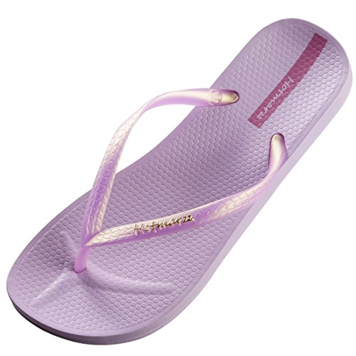 Hotmarzz Chanclas para Mujer Slim Flip Flops Sandalias Verano Playa Piscina Zapatos Size 39 EU, Violet