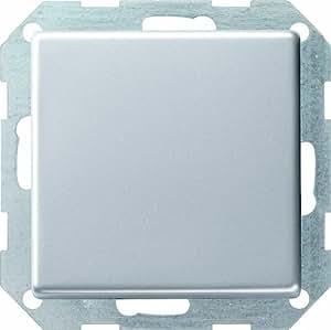 Gira E22 2851203 Interrupteur-poussoir à bascule rétro-éclairé en aluminium