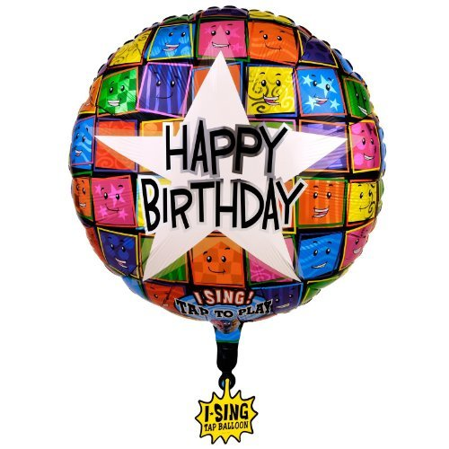 Folienballon mit Musik Happy Birthday to you Singing Ballon unbefüllt, ca. 71 cm