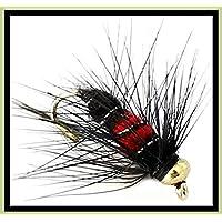 8 Fliegen mit Gewicht #124B BestCity K/öder f/ür Fliegenfischen schwarz 8-12