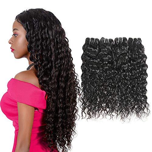 Lvy capelli veri brasiliani 9a onda d'acqua capelli umani brasiliani 4 fasci di human hair extension tessitura capelli veri totale 400g 20 22 24 26 pollici