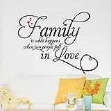 Winhappyhome Familie Englisch SprüChe Wandaufkleber für Wohnzimmer Schlafzimmer Hintergrund Entfernbare Dekor Aufkleber
