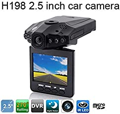 Cartshopper Full HD Wireless Portable IR Day and Night Vision CCTV Camera with 6 LED (2.5-inch, Black)