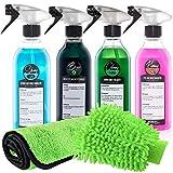Detailify - Set pulizia auto Taily All in One, panno in microfibra, per interni e cerchioni