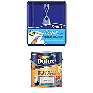 Dulux Perfect Roller and Tray Set, 9 inch Easycare Washable and Tough Matt (Egyptian Cotton)