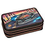 Monster Cars 8586 3-Fach Federtasche mit LED Funktion