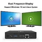 Mini PC, SEGURO V11 Mini Ordenador de Sobremesa Windows 10 o Linux Sistema Intel Atom x5-Z8350 Procesador, 2GB de RAM, 32GB SSD, 4K, Dual WiFi, 1000M LAN, Bluetooth, Ordenador Escritorio Mano