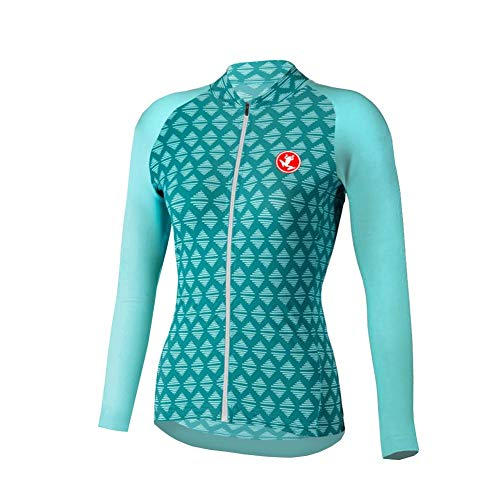 Uglyfrog Reißverschluss Lange Ärmel Hülsen T-Shirt Damen Fahrrad Jersey-einen Kreislauf Durchmachenjersey Jacken-einen Kreislauf Durchmachenhemd Schnell trockene atmungsaktive Sportkleidung