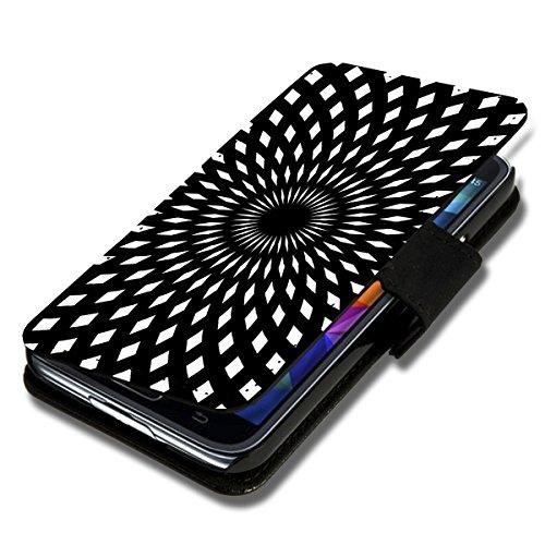Book Style Flip Handy Tasche Case Schutz Hülle Schale Motiv Etui für Samsung Galaxy A3 - Flip X5 Design9