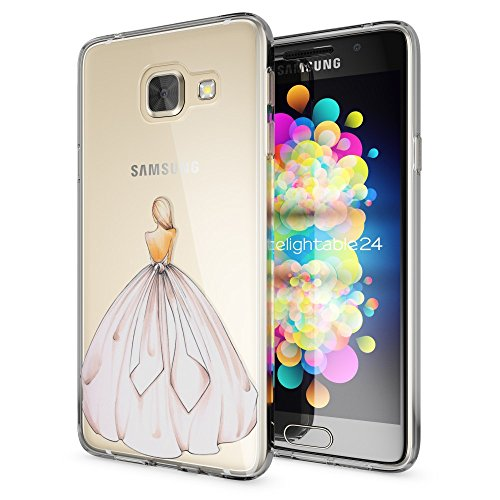 delightable24 Cover Case in Silicone TPU per Smartphone SAMSUNG GALAXY A3 (2016) - Princess Pink Rosa