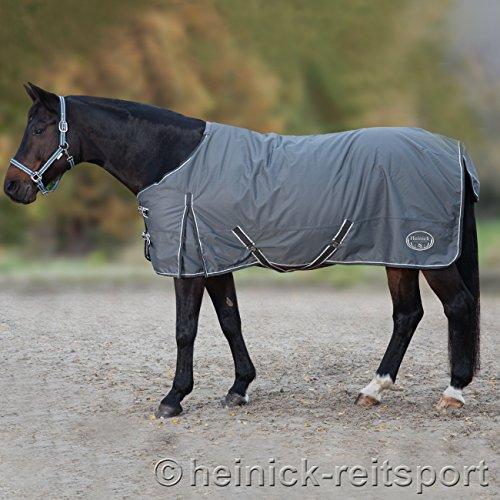Heinick-Reitsport Regendecke ~ Grau ~ 100 Gramm Innenfutter Outdoordecke Weidedecke 125 bis 155 cm