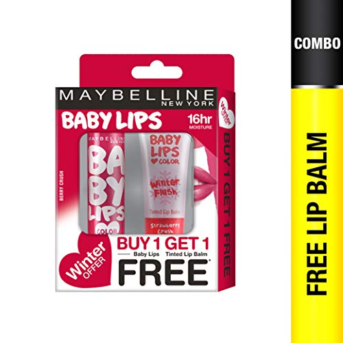 Maybelline New York Winter Promo, Berry Crush, 4g with Free Strawberry Crush, 9ml