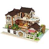 Libertry Casa delle bambole fai-da-te Architettura antica senza parapolvere per adulti Bambini scopi educativi Regali