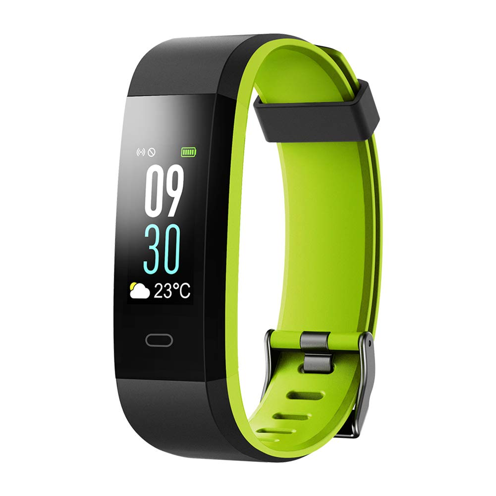 QL Fitness Tracker, Smart Watch with Color Screen, IP68 Waterproof, Step & Calorie Counter, Sleep Monitoring, Pedometer, Smart Bracelet for Kids Women and Men