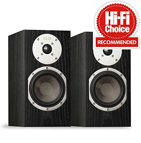 KLH Audio Albany Bookshelf Speaker Pair Black Oak