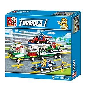 SLUBAN BRICKS, Town Formula Car F1 Pista 428 pzs Juegos de construcción (AJ 1)