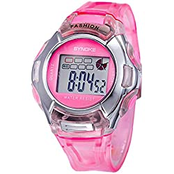 Silvercell Child Sports Multifunction Waterproof Electronic Wrist Watch Pink