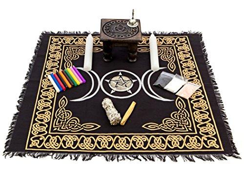 Alternative Imagination Wicca Altar Netzteil Kit, Marke Deluxe Schwarz -