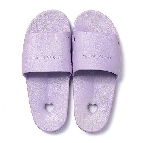 DogHaccd pantofole,Bagno pantofole coppie estate piscina home trascina le donne pantofole a casa con una parola trascina beach cool pantofole maschio Viola