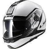 Casco modular moto LS2 FF325 Strobe Civik Hi-Vis blanco / negro (L)