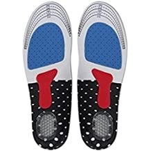 MIUINCY Men's & Women's Orthotic Arch Support Comfort Foot Massage Gel Heel Cushion Comfort Silicone Sport Running Shoe Trainer Boots Insoles Pad (1 Pair) …