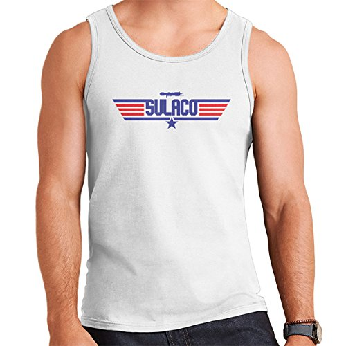 Sulaco Topgun Logo Aliens Men's Vest White