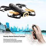 WMWHALE WiFi FPV avec Drone Rc 720P Caméra 2.4G 4CH Pliable Phone Control Toy Contrôle Vocal en Temps réel Transmission d'avion pour Les Enfants RC Jouets Enfants Cadeau