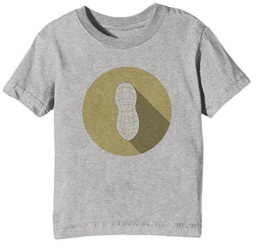 Erdnuss Kinder Unisex Jungen Mädchen T-Shirt Rundhals Grau Kurzarm Größe XL Kids Boys Girls Grey X-Large Size XL (Erdnüsse Gesund)