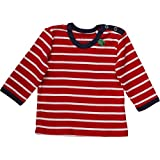 Fred's World by Green Cotton Unisex T-Shirt Stripe l/sl T Baby, Rot (Red/Cream 019800008), 98