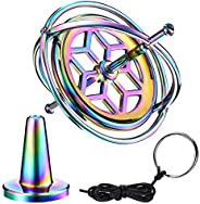 WHRMQ Gyroscope, Anti-Gravity Spinner Toys, Precision Metal Gyroscope Finger Spinner Educational Gift and Trai