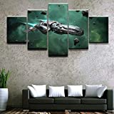 mmwin Impresiones de imágenes Asteroid Spaceship Star Citizen Wall Artwork Home Decor Modular Canvas Poster Modern For Living Room