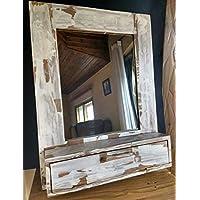 Mueble de baño, tocador vintage de madera reciclada de palet hecho ...