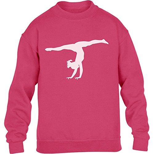 Kunstturnerin Silhuette Fanartikel Geschenk Kinder Pullover Sweatshirt Large wow rosa