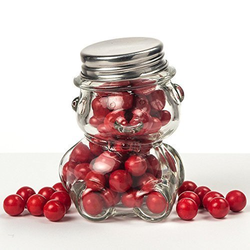 (Perfectly Plain Glass Teddy Bear Jar - Party Supplies by FASHIONCRAFT)