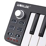 ammoon Controller MIDI Tastiera Mini USB Worlde Easykey.25 Portatile 25-Key
