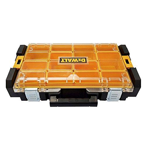 DeWalt Tough Box DS100 Werkzeugbox/ Werkzeugkiste (Organizer für Kleinteile und Zubehör, Staub- und Sprühwassergeschützt nach IP53, kratz- und schlagfester Polycarbonat-Deckel) DWST1-75522 (Organizer-tool-box)