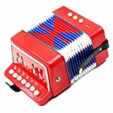 Junior Miniatur-Diatonische Melodeon Kinder Anfänger Akkordeon in rot