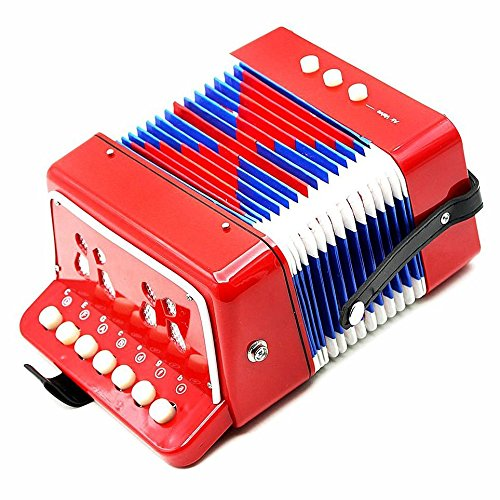 oypla-7-keys-2-bass-childrens-red-toy-accordion-musical-instrument