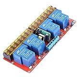 Relé de 4 Canales Módulo de Relé de Conmutación de Nivel Alto-bajo Relé de Alta Potencia AC100V-250V 30A para Arduino