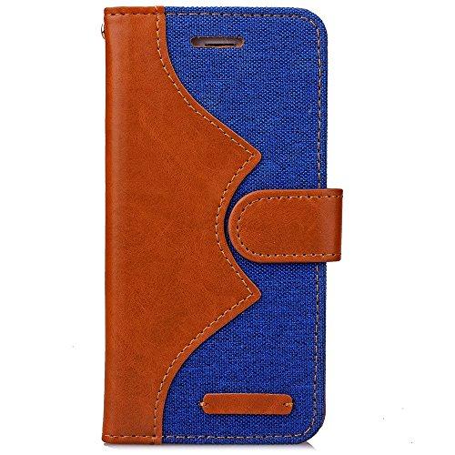 Wkae Case Cover Case Flip Stand Cover Case Luxury Fashion Case Jeans cuir PU Cover Avec Liquide Carte Slots Mixed Case Couleur Pour IPhone 6S plus de 5,5 pouces ( Color : Rose , Size : Iphone 6s Plus  Blue