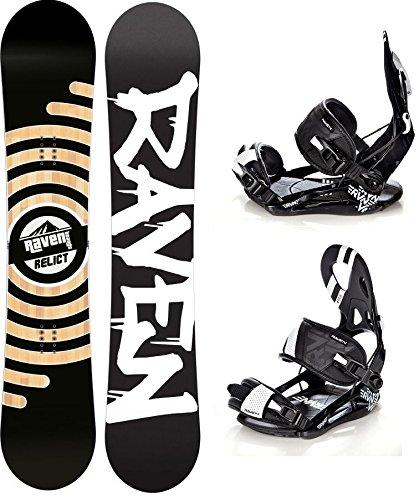 Snowboard Set: Snowboard Raven Relict + Bindung Raven s250 Black L