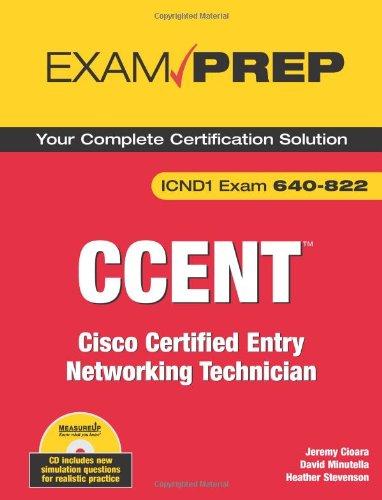 CCENT Exam Prep (Exam 640-822) por Jeremy Cioara
