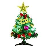 KUSUOU Home Alberi di Natale Artificiali Albero di Natale da 30 cm, Mini Albero di Pino Artificiale con luci a LED e Ornamenti for la Decorazione del Desktop (Albero di Natale)