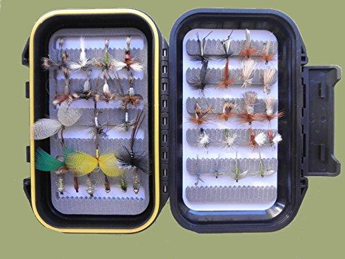 40frühen Saison River Forellenangeln Fliegen, mayflies, Klinks, Nymphe etc., Box Set–für Fly Angeln