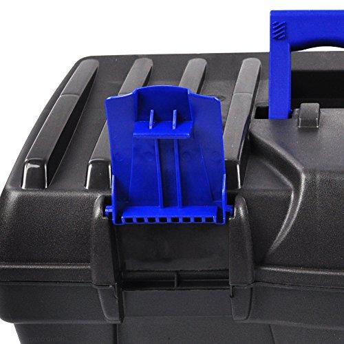 BULTO Werkzeugkoffer Werkzeugkasten 18S – schwarz/blau – 460 x 257 x 227 mm - 6