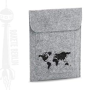 Tablet Filzhülle 'Weltkarte – gezeichnet'